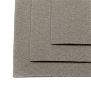 Фетр листовой жесткий IDEAL 1мм 20х30см арт.FLT-H1 уп.10 листов цв.648 серый