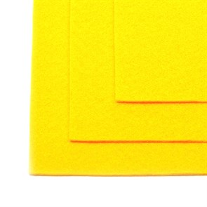 Фетр листовой жесткий IDEAL 1мм 20х30см арт.FLT-H1 уп.10 листов цв.643 желтый