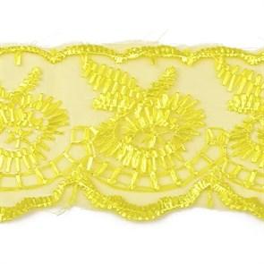 Кружево капрон арт.TBS.0574-2020 (STPL-09)  цв.109 желтый  рул.9,14м