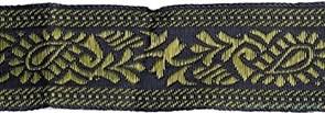 Лента отделочная жаккардовая арт.HP-206002 шир.32мм  уп.9.14м цв.т.синий