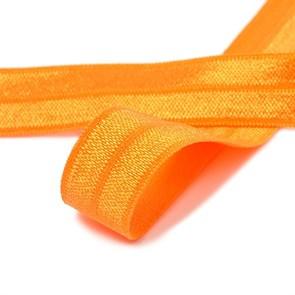 Косая бейка эластичная 15мм цв.F157 т.оранжевый уп.50 м