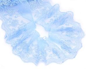 Кружево на сетке арт.TBY.2L322A шир.120мм цв.6 голубой уп.13,71м