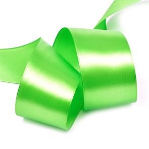 """Лента атласная 2"""" (50мм) цв.3038 зеленый IDEAL уп.27,4 м"""