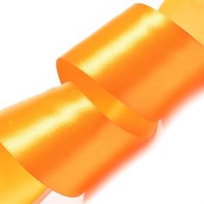 """Лента атласная 2"""" (50мм) цв.3020 яр.оранжевый IDEAL уп.27,4 м"""