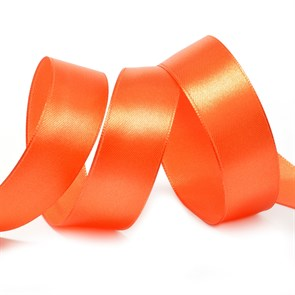"Лента атласная 1"" (25мм) цв.3072 т.морковный IDEAL уп.27,4 м"