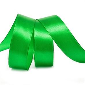 """Лента атласная 1"""" (25мм) цв.3042 зеленый IDEAL уп.27,4 м"""