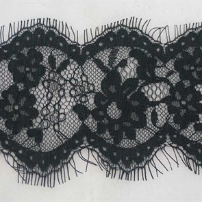 """Кружево """"реснички"""" арт.KRK-T3101 шир.95мм цв.черный уп.3м"""