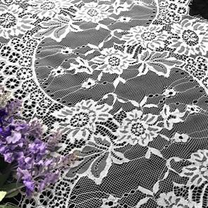 "Кружево ""реснички"" арт.KRK-66001 шир.345мм цв.белый уп.3м"