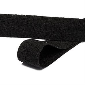 Косая бейка TBY матовая эластичная 15мм арт.ROM.15322 цв.F322 черный уп.50 м