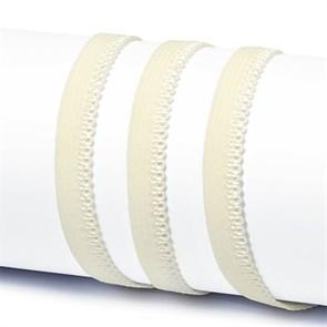 Резинка TBY бельевая 10мм арт.RB03102 цв.F102 молочный уп.100м