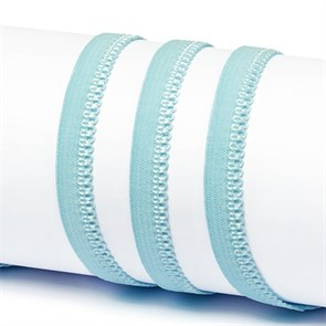 Резинка TBY бельевая 10мм арт.RB03183 цв.F183 голубой уп.100м