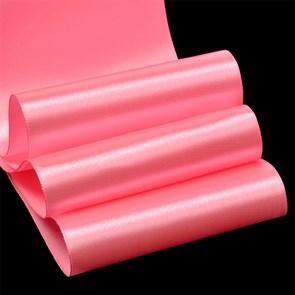 """Лента атласная 4"""" (100мм) цв.3077 св.розовый IDEAL уп.27,4 м"""