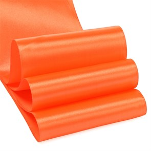 """Лента атласная 4"""" (100мм) цв.3070 оранжевый IDEAL уп.27,4 м"""