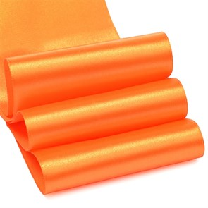"""Лента атласная 4"""" (100мм) цв.3020 яр.оранжевый IDEAL уп.27,4 м"""