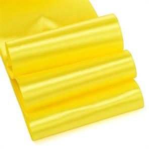 """Лента атласная 4"""" (100мм) цв.3014 желтый IDEAL уп.27,4 м"""