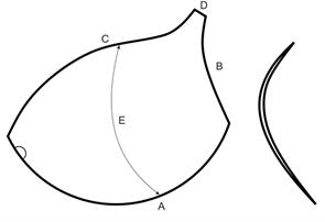 Чашечки корсетные AN-57.24в с равномерным наполнением р.75 цв. белый (пара)