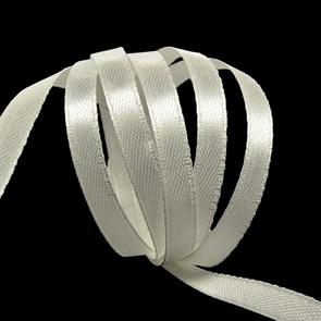 """Лента атласная 1/4"""" (6мм) цв.4000 молочный IDEAL уп.27,4 м"""