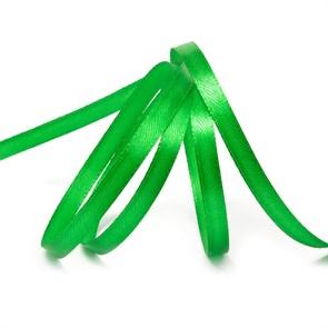 """Лента атласная 1/4"""" (6мм) цв.3042 зеленый IDEAL уп.27,4 м"""
