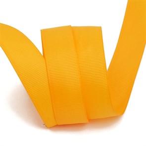 Лента Ideal репсовая в рубчик шир.25мм цв. 662 (025) св.оранжевый уп.27,42м