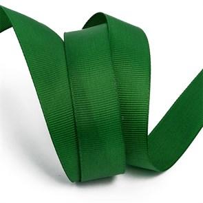 Лента Ideal репсовая в рубчик шир.25мм цв. 587 тем.зеленый уп.27,42м