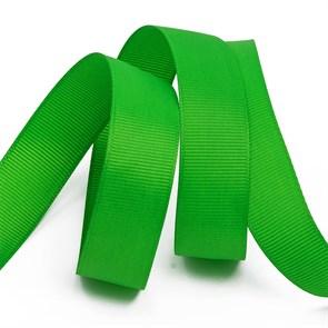 Лента Ideal репсовая в рубчик шир.25мм цв. 579 (119) ярк.зеленый уп.27,42м