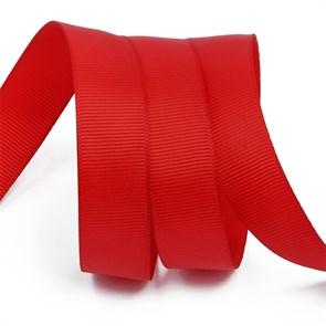 Лента Ideal репсовая в рубчик шир.25мм цв. 260 бордовый уп.27,42м