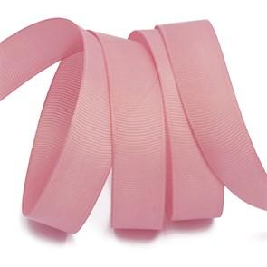 Лента Ideal репсовая в рубчик шир.25мм цв. 158 гряз.розовый уп.27,42м