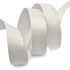 Лента Ideal репсовая в рубчик шир.25мм цв. 007 (092) св.серый уп.27,42м