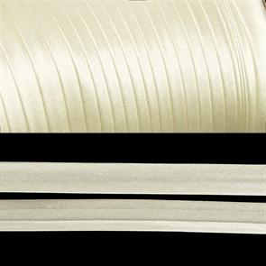 Косая бейка TBY атласная шир.15мм цв.F103 молочный уп.132 м