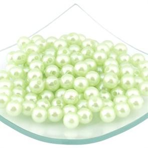 Бусины MAGIC 4 HOBBY круглые перламутр  10мм  цв.H59 салатовый уп.50г (90шт)