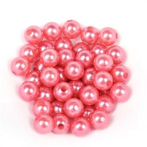 Бусины MAGIC 4 HOBBY круглые перламутр  10мм  цв.H53 розовый уп.50г (90шт)