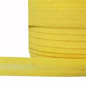 Косая бейка хлопок TBY арт.CB15 шир.15мм цв.F110 желтый уп.132 м
