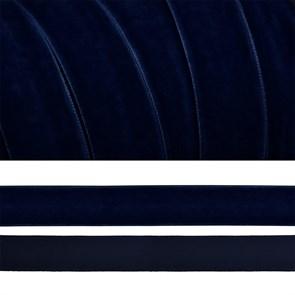 Лента бархатная арт.TBY.LB2054 нейлон шир.20мм цв.т.синий уп.20м