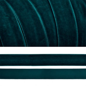 Лента бархатная арт.TBY.LB2039 нейлон шир.20мм цв.т.зеленый уп.20м
