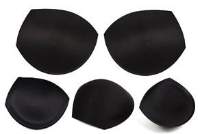 Чашечки корсетные TBY-01.03 с эффектом push-up р.75 цв. черный (пара)