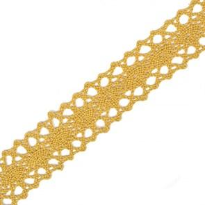 Тесьма вязаная 20мм TBY-6307-1 цв.34 т.желтый уп.10м