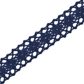 Тесьма вязаная 20мм TBY-6307-1 цв.29 темный-синий уп.10м