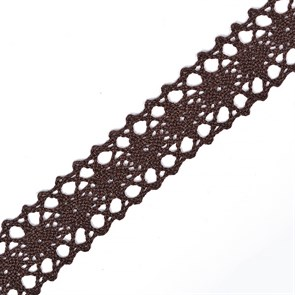 Тесьма вязаная 20мм TBY-6307-1 цв.27 коричневый уп.10м