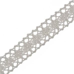 Тесьма вязаная 20мм TBY-6307-1 цв.22 серый лен уп.10м