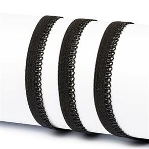 Резинка TBY бельевая 10мм арт.RB03322 цв.F322 (03) черный уп.100м