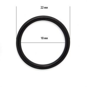 Кольцо для бюстгальтера металл TBY-H15 d18мм, цв.02 черный, уп.100шт
