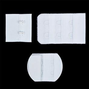 Застежка с крючками 3х2 для бюстгальтера TBY-75330 3см цв.белый уп.10шт