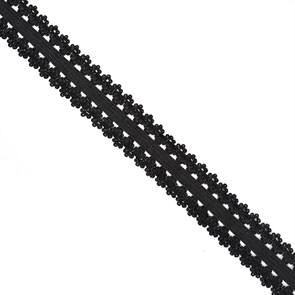 Резинка TBY бельевая 20мм арт.RB04322 цв.F322 (03) черный уп.10м