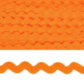 "Тесьма декоративная ""Вьюнчик"" арт.TBY.64312 шир.5мм цв.F157 оранжевый уп.32,92м"