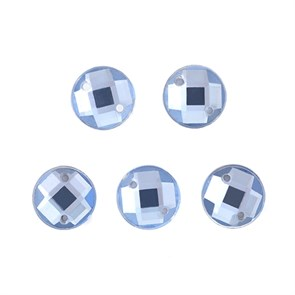Стразы пришивные акриловые MAGIC 4 HOBBY арт.MG.E.02 06 мм круг цв.06 голубой уп.100 шт