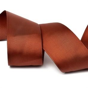 Лента Ideal репсовая в рубчик шир.50мм цв. 868 (143) холод.коричневый уп.27,42м
