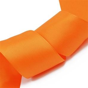 Лента Ideal репсовая в рубчик шир.50мм цв. 751 ярк.оранжевый уп.27,42м