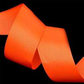 Лента Ideal репсовая в рубчик шир.50мм цв. 600 (051) флуор.оранжевый уп.27,42м