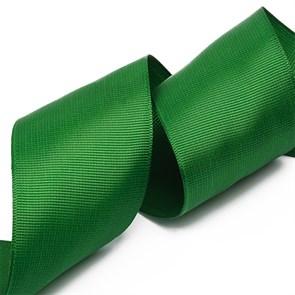 Лента Ideal репсовая в рубчик шир.50мм цв. 587 т.зеленый уп.27,42м