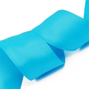 Лента Ideal репсовая в рубчик шир.50мм цв. 340 (165) ярк.голубой уп.27,42м
